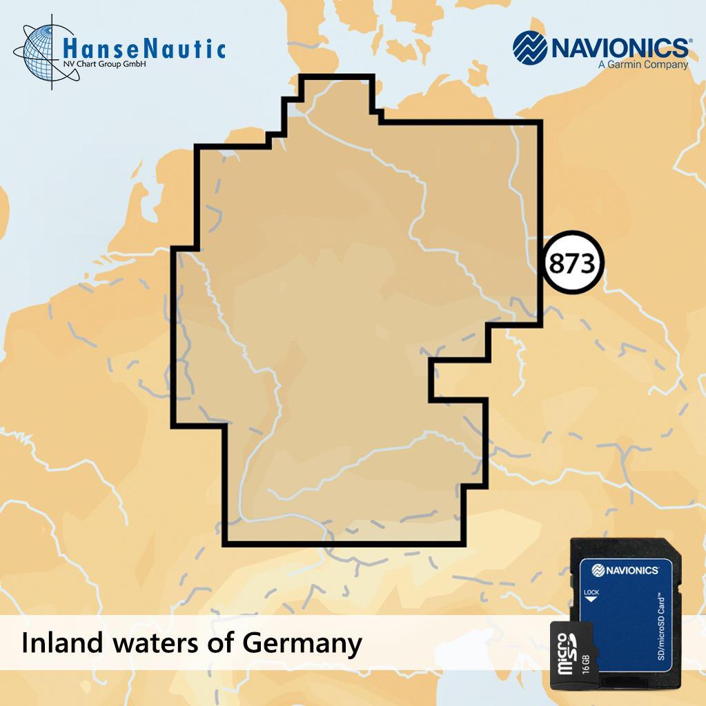 Navionics+ Deutschland Binnenreviere mSD (5G873S)