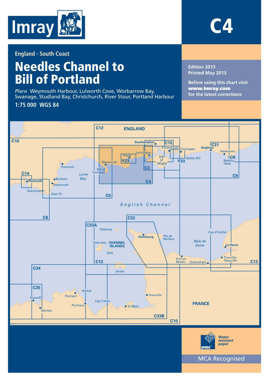 IMRAY CHART C 4 Needles Channel to Bill of Portland
