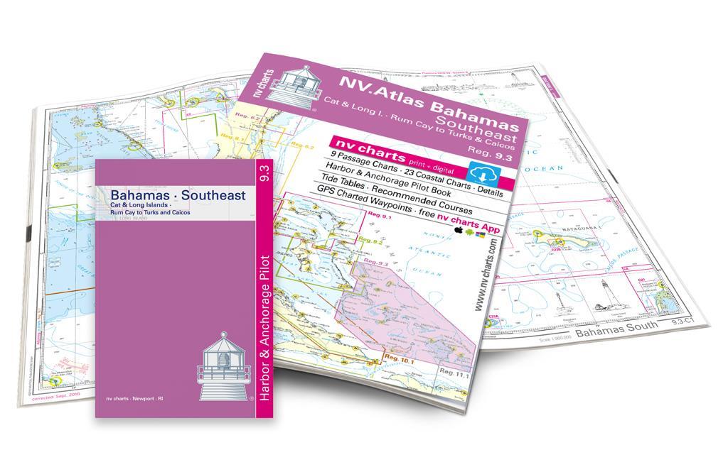 NV Atlas 9.3, Bahamas South East - Cat & Long Island - Rum Cay to Turks & Caicos
