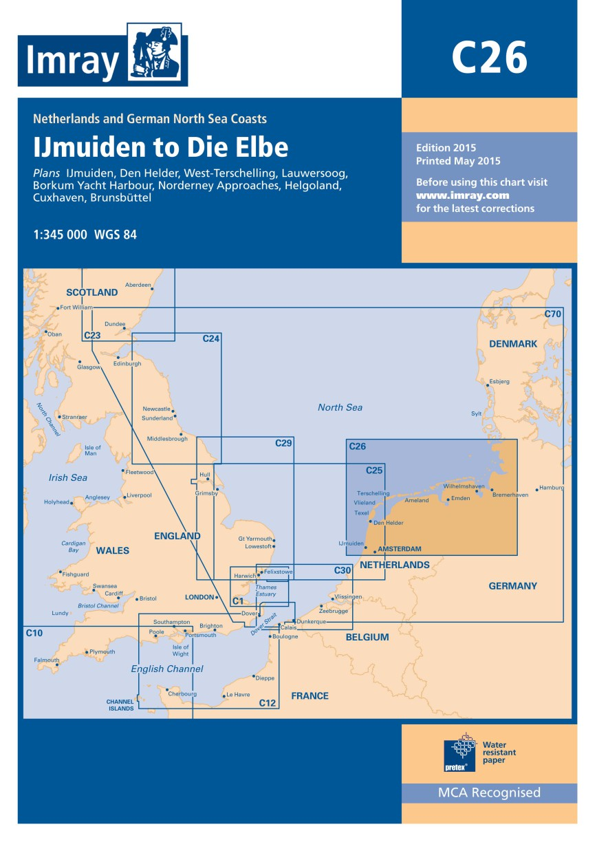 IMRAY CHART C 26 IJmuiden to Die Elbe