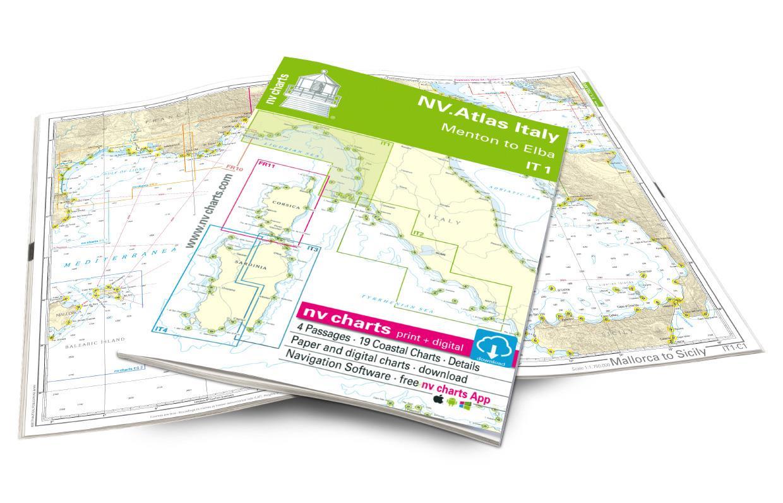 NV Atlas Italy IT1: Menton to Elba