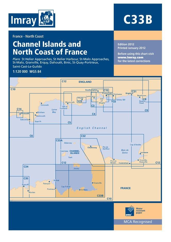 IMRAY CHART C 33 B Channel Islands (South)