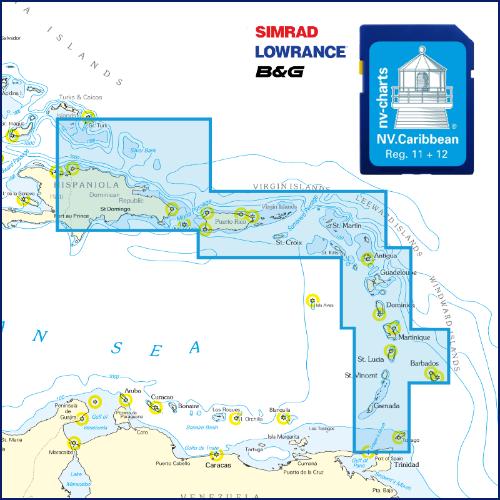 Carte pour traceurs Caraïbes et Bermudes