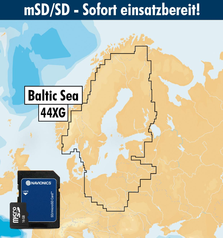 Navionics+ 44XG Ostsee (Baltic Sea) mSD