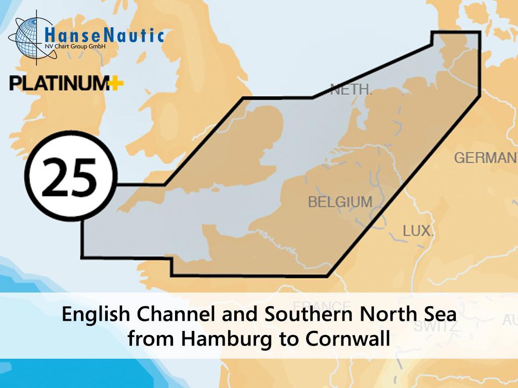 Navionics Platinum+ Nordseeküste und Englischer Kanal 25P+