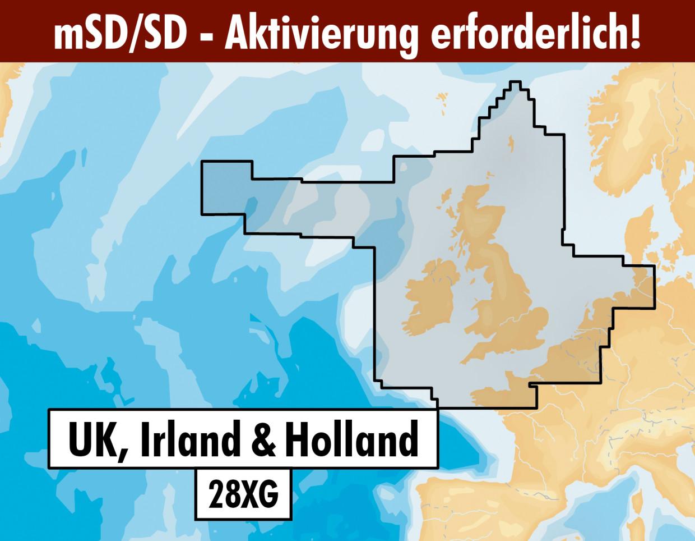Navionics+ Update 28XG UK Irland & Niederlande mSD