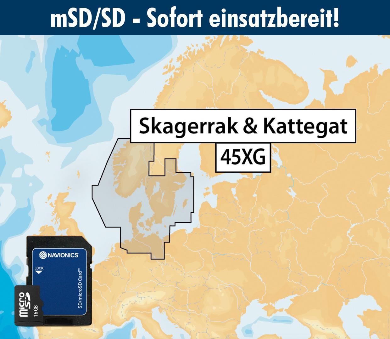 Navionics+ 45XG SKAGERRAK & KATTEGAT mSD