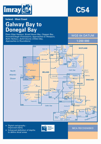 IMRAY CHART C 54 Galway Bay to Donegal Bay