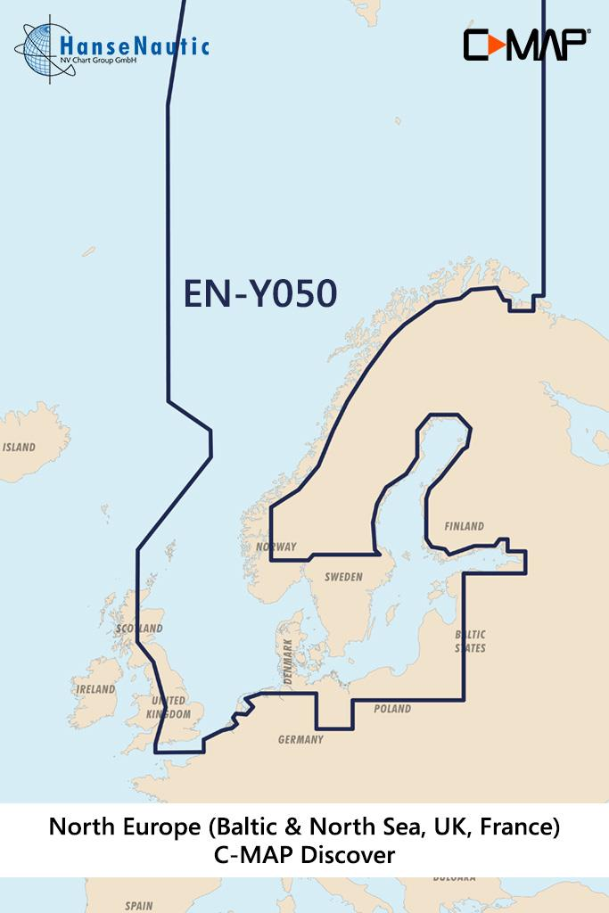 C-MAP Discover Nordeuropa & Ostsee (Northern & Central Europe) EN-Y050