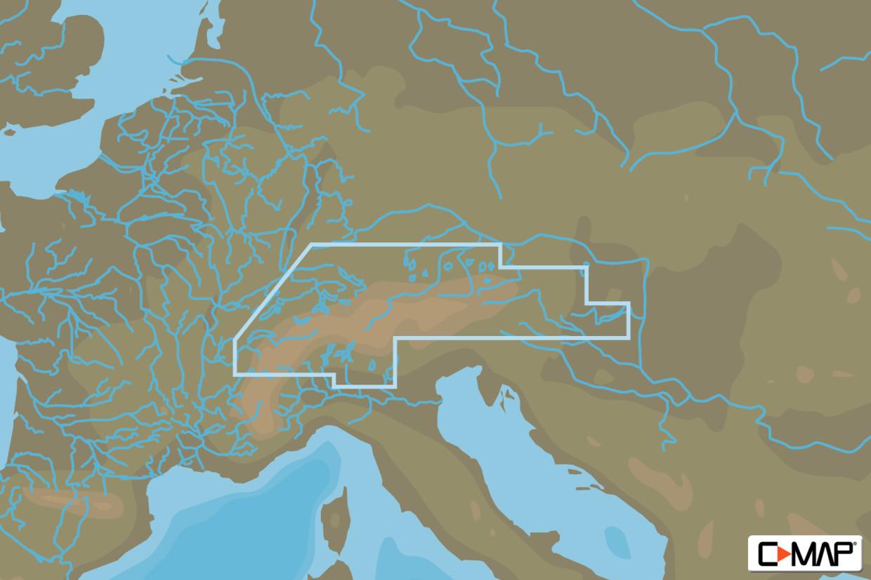 C-MAP 4D MAX+ Wide EN-D068 Central European Lakes