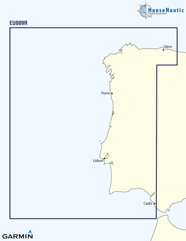 BlueChart Atlantik Portugal u. NW-Spanien g3 XEU009R