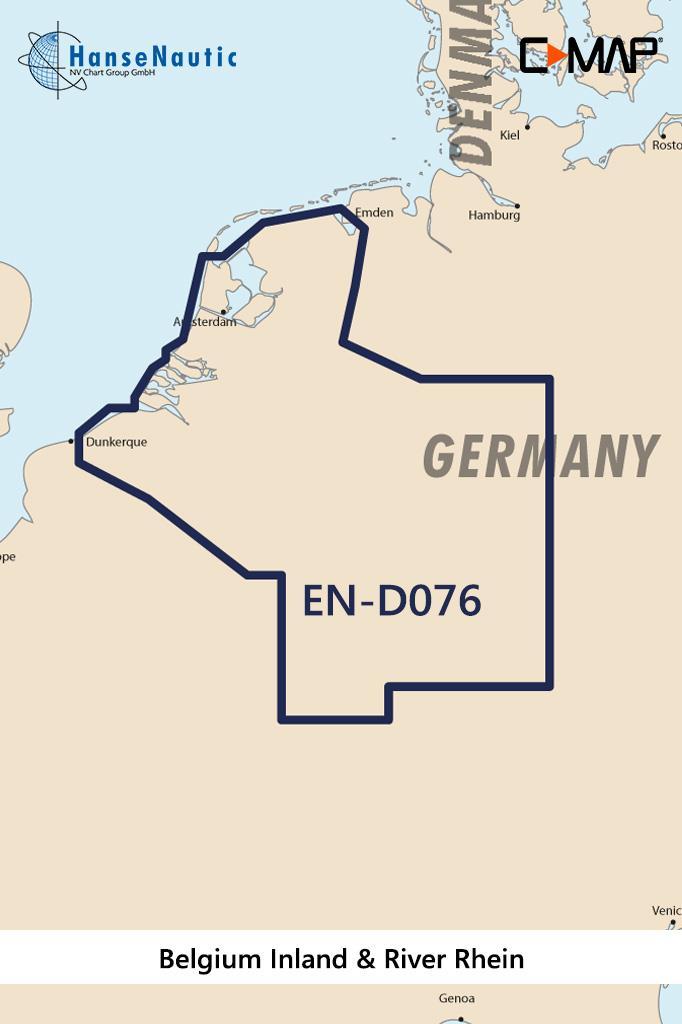 C-MAP 4D MAX+ Wide EN-D076 Belgium Inland & River Rhein