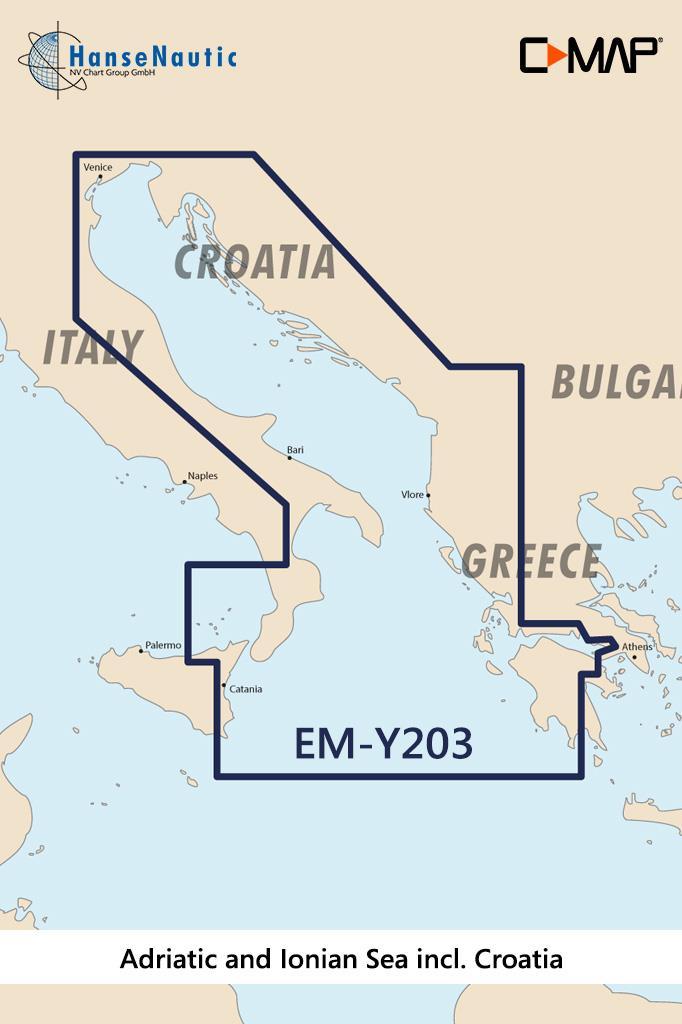 C-MAP Discover Adria u. Ionisches Meer inkl. Kroatien EM-Y203