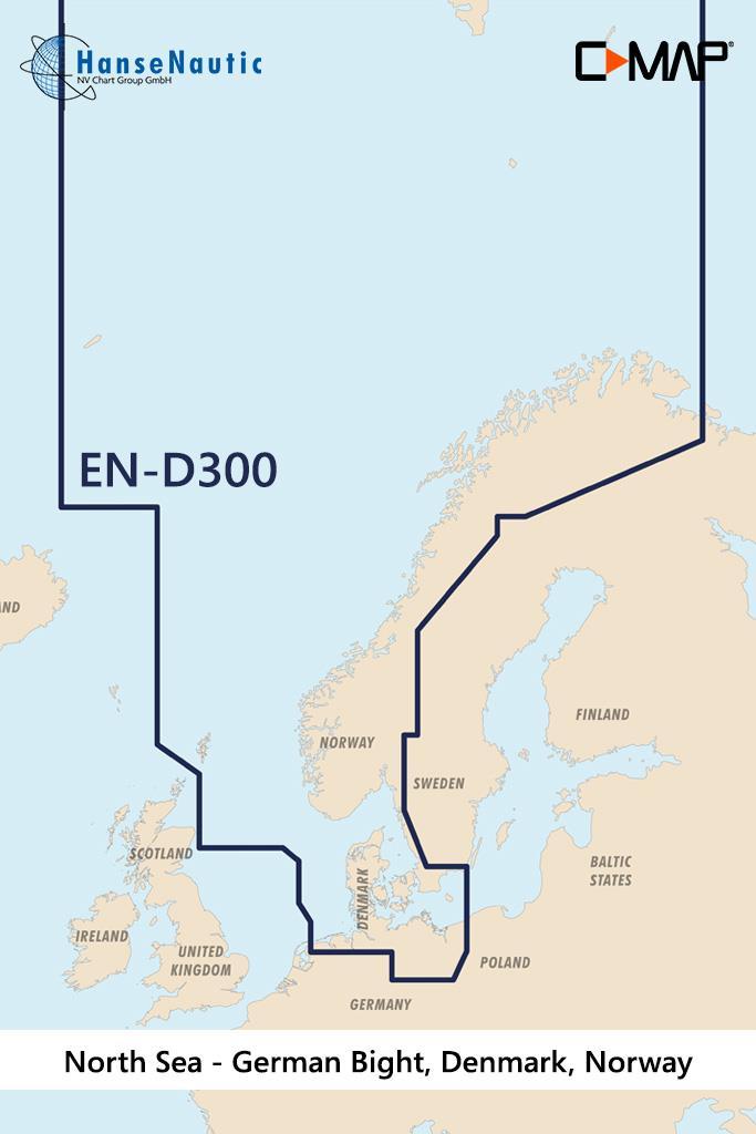 C-MAP 4D MAX+ Wide EN-D300 North Sea & Denmark