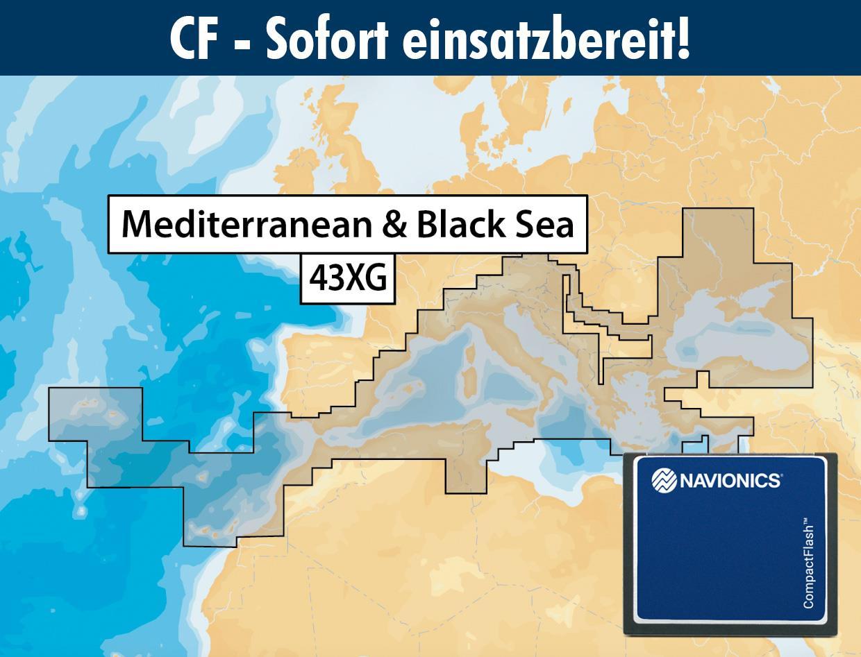Navionics+ CF 43XG Méditerranée (Mediterranean & Black Sea)