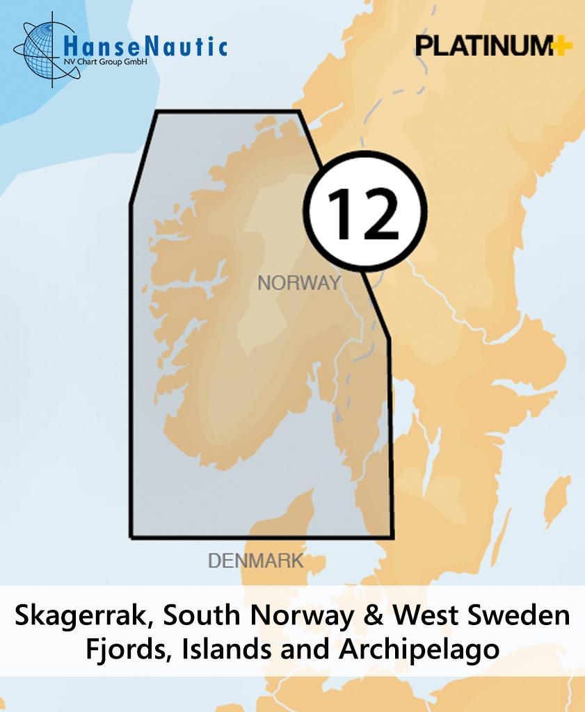 Navionics Platinum+ Skagerrak Süd-Norwegen West-Schweden (12P+)