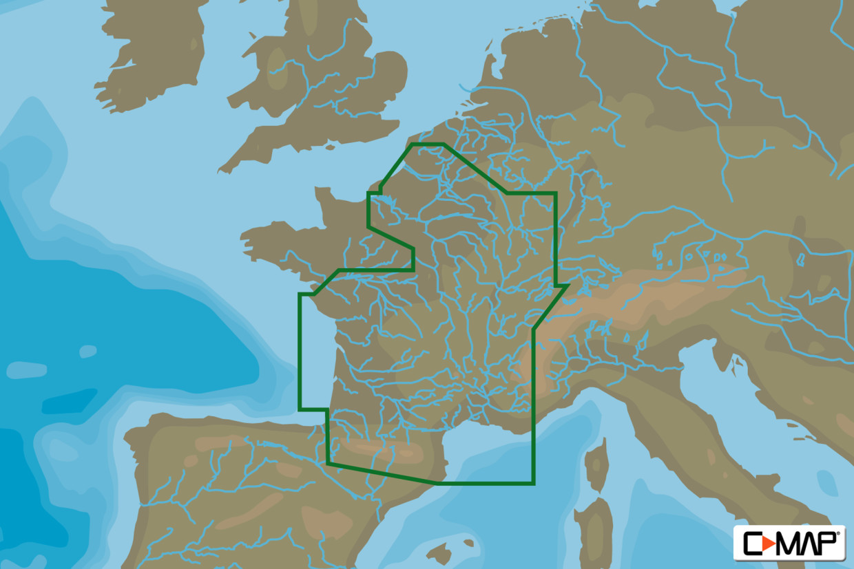 C-MAP 4D MAX+ Wide EW-D225 France Inland