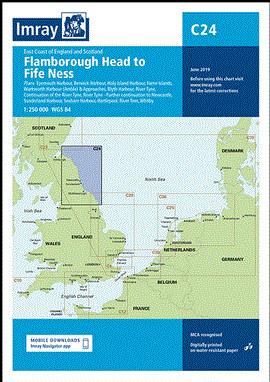 IMRAY CHART C 24 Flamborough Head to Fife Ness