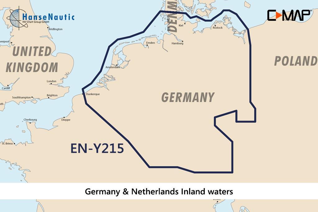 C-MAP Discover Deutschland u. Niederlande Binnen EN-Y215