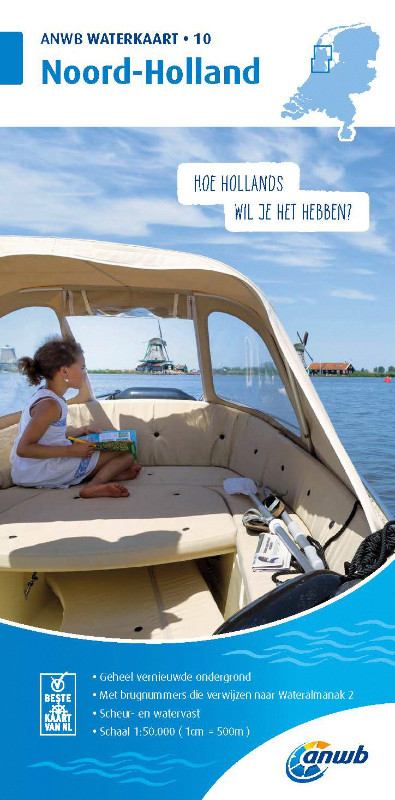 ANWB Waterkaart 10 - Noord-Holland
