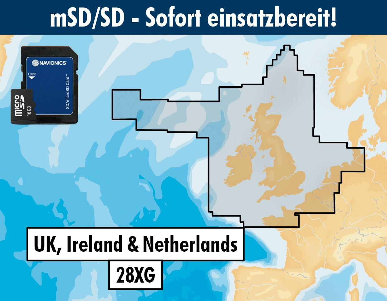 Navionics+ 28XG UK Irland & Niederlande mSD