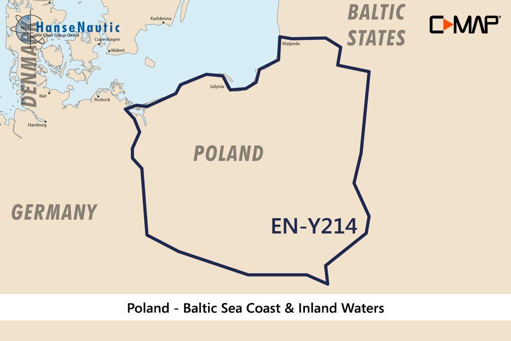 C-MAP Discover Polen - Binnengewässer u. Ostseeküste EN-Y214