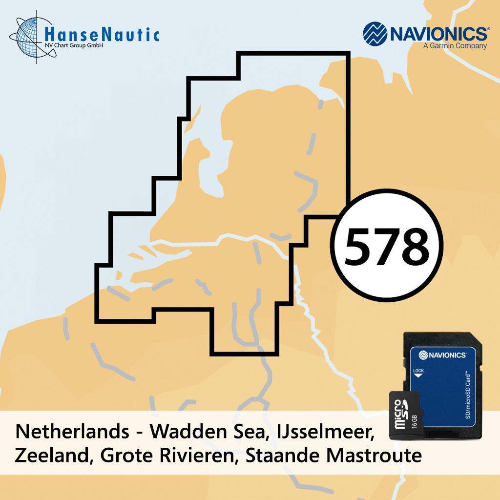 Navionics+ Niederlande mSD (5G578S2)