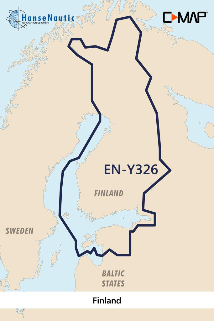 C-MAP Reveal Finnland Binnengewässer (finnische Seen, Flüsse u. Kanäle) EN-Y326