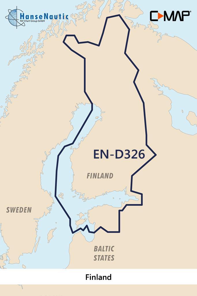 C-MAP 4D MAX+ Wide EN-D326 Finland Lakes
