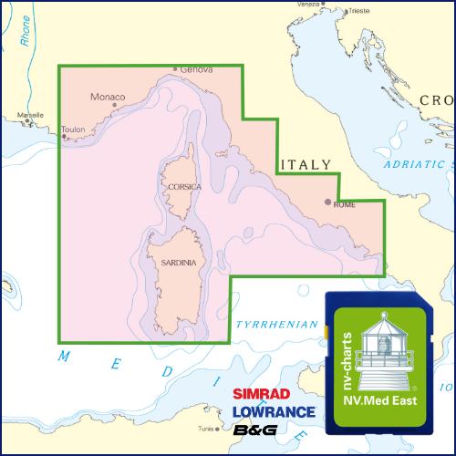 Carte pour traceurs Méditerranée est